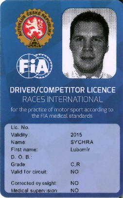 Mezinárodní licence rally 2015